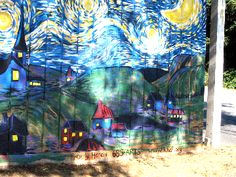 Soquel Drive fence mural in Aptos. KHAF Completed Murals