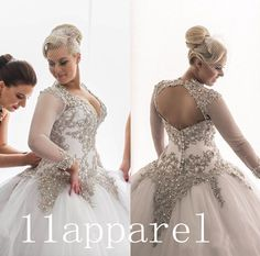 Sexy Custom Long Sleeves Bridal Gown - Ebay