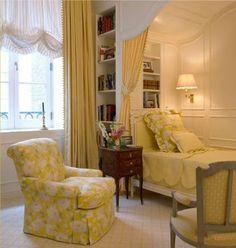 yellow fancy kids room