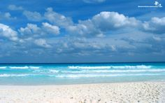 Stunning View From The Caribbean Beach Background
