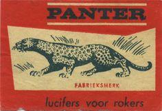 Panter - vintage matchbox label