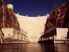 Hoover Dam - generates electricity and is called hydroelectricity.