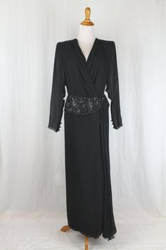 8f833dfc74 ANDREA ODICINI Couture Beaded Draped Silk Gown Made in Italy Size 8 42 New  Condition