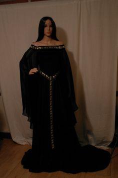 Vestido de elfa boda celta medieval vestido por camelotcostumes