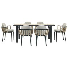 Buy Ethimo Swing 6 Seater Rectangular Garden Dining Set, FSC-Certified (Teak), Natural Online at johnlewis.com