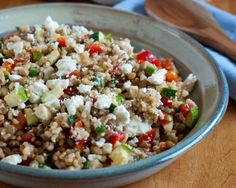 Lentils with Brown Rice and Feta Recipe