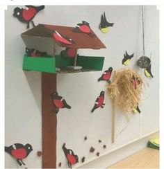 In the kindergarten TOP Hands of children's birds. Cd Crafts, Preschool Crafts, Diy And Crafts, Paper Crafts, Spring Activities, Art Activities, Animal Crafts For Kids, Art For Kids, Farm Animals Preschool