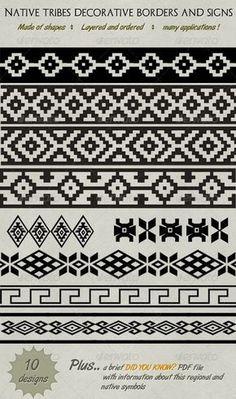 Decorative Native Tribe Borders, Lines & Symbols - Decorative Symbols Decorative