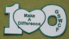 Girl Scout 100th Anniversary patch. GS West Central Florida Make A Difference