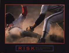 Risk - Winners don't wait for chances, they take them! @tgfuframing www.thegreatframeup.com