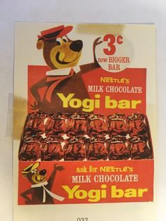 HOADLEYS Hoadley's Nestles Yogi Bar Confectionary Sales Sheet - AUD 32.66. Sheet from the Hoadleys Salesmans Sales Brochure Book, 130 x 90mm. 282807516204 Vintage Advertisements, Vintage Ads, Vintage Food, Chocolate Lollies, 1990s Nostalgia, Nostalgic Candy, Penny Candy, Old Ads, My Memory