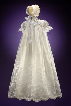 Organza Christening Gowns | ... Outfits for Babies Girls Organza White Heirloom Christening Gown