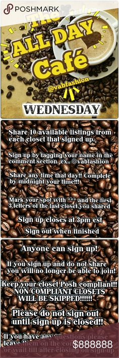 ☕closed!☕ 1\/3 Customer support and Delivery - make a signup sheet