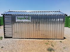 Spacious storage shed supplied by Topshell Containers, South Africa.   Shed size: 2,1m x 4,8m.  Features durable IBR cladding with steel construction. Option of raised wooden floor or without floor. Window  lockable steel door.  #topshell #containers #storage #storageunit #storagecontainers #storagesolutions #shed #toolshed #toolstorage #suppliesstorage #storagespace #containerrentals #constructionsite #buildingsite #mining