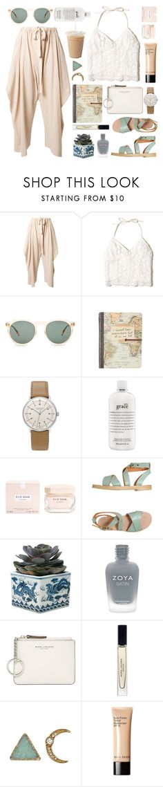 """""""walking at the pier."""" by tennessea-honey ❤ liked on Polyvore featuring STELLA McCARTNEY, Hollister Co., raen, Junghans, philosophy, Elie Saab, L'Autre Chose, OKA, Zoya and Marc Jacobs"""