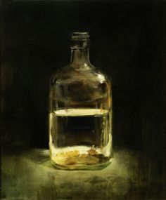 Bottle, oil on canvas 24 x 20 inches 2010, Bo Kim