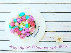 The Orange Choco Pudding with full of JPFlo ^^  #DianaCahya #NoButtercream #JPFlo #JellyPipingFlower #GelatinoPipingFlower #GPFlo #Pudding #Jelly #Flower #Piping #NoMoulding #JellyFlower #Dessert