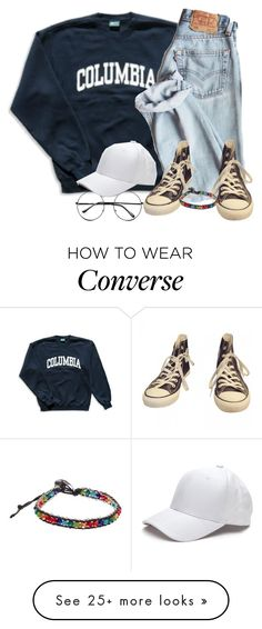 """who needs a title?"" by bandsvansandsodacans on Polyvore featuring Columbia, Converse, Retrò and One Button"