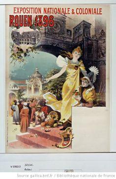 Exposition nationale et coloniale Rouen 1896 : [affiche] / [Lucien Baylac] - 1
