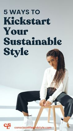 Are you ready to clean up your style? Is sustainability something you explore online but aren't sure if you'd execute in real life? Well, good news. You are on the right track. Awareness is the first step in curating a conscious closet. Your sustainable fashion journey is ever-evolving. There is no quick fix, only slow solutions. Give yourself room to grow and have fun by applying these 5 sustainable fashion tips. #sustainablestyletips #fashiontipsandtricks #ethicalfashiontips