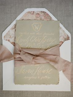 Paper Suite and Calligraphy: Lydia Whitener - Swan House Styled Shoot by Martha McIntosh (Creative Direction and Florals) + Davy Whitener (Photography) - via Grey likes weddings