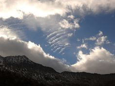 The beauty of clouds modelled by wind!