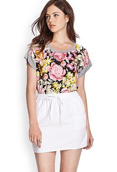 very comfy floral shirt - forever 21