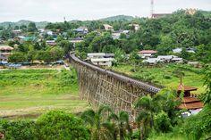 กาญจนบุรี - สะพานอุตตมานุสรณ์ หรือ สะพานไทย-มอญ ร่วมใจ อ.สังขละ