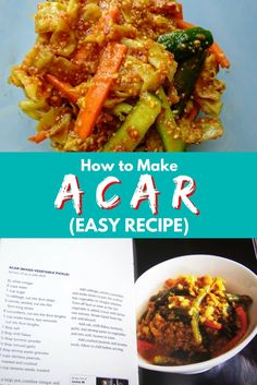 In case you missed it, here's the full recipe and replay to Jackie M's LIVE Asian Kitchen broadcast on How to Make Acar (Easy Recipe). Chilli Recipes, Chutney Recipes, Canning Recipes, Asian Recipes, Vegetarian Recipes, Souse Recipe, Asian Snacks, Asian Desserts, Nyonya Food