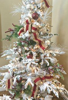 Home by Heidi: Christmas Tree Ribbon tutorial