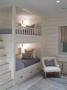 Built in bunks House of Turquoise: Sophie Metz Design Furniture, Home, Bedroom Design, House Interior, Bed, Built In Bunks, Remodel Bedroom, Bunk Beds Built In, Bedroom