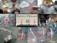Inspiration Giacometti with aluminium foil