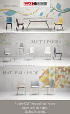 The new Scab Design collection #design #chairs @scabdesign