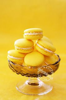 Lemon Macarons with Lemon Buttercream Filling
