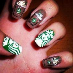I <3 this starbucks nail art!