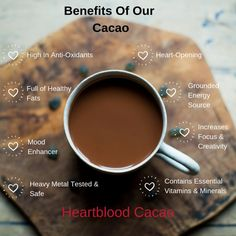 Grab a bar of cacao and use this recipe to make your own ceremonial cacao drink. Brew up, consume and enjoy the heart-opening effects of cacao today. Cacao Health Benefits, Cocoa Benefits, Cacao Powder Benefits, Energie Smoothies, Chocolate Shop, Cacao Chocolate, Chocolate Liqueur, Chocolate Dreams, Cocoa Nibs