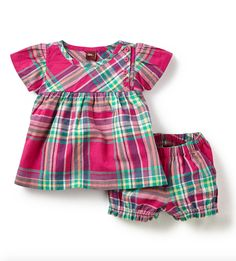 Lucknow Plaid Baby Outfit