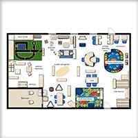 Classroom floor planner bulletin boards and classroom for Classroom floor plan creator