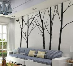 winter wall decal trees wall decor nursery vinyl von NatureStyle