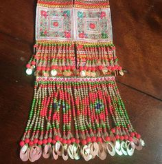 PAIR  VINTAGE Hmong Textile    Embroidery Hmong Tapestry