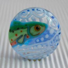 Fish - lampwork bead