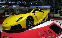 2013 Spania GTA Spano front three quarter yellow Photo on March 8, 2013