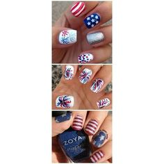36 Amazing DIY-Able Manicures For The 4th Of July ❤ liked on Polyvore featuring beauty products and nail care