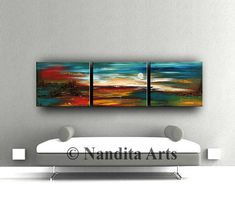 "LARGE LANDSCAPE PAINTING, Decorative Art, 72"" Abstract Painting Turquoise Home & Living Room Wall Art Landscape Art Artist Nandita Albright #LandscapePainting #LandscapeModernArt #painting #art #AbstractArt #StillLife #OriginalPainting #LandscapeArt #landscape #OriginalLandscape"