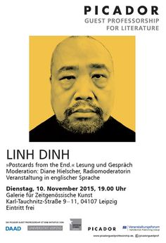 #Reading with Picador Guest Professor Linh Dinh in #Leipzig at Galerie für Zeitgenössische Kunst.