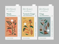 Rishi Concepts by Brent Schoepf   #dribbble #design #packaging #illustration #dribbblers Packaging Box, Print Packaging, Design Packaging, Coffee Packaging, Design Food, Web Design, Logo Design, Packaging Inspiration, Communication Design