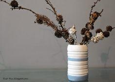 Wazon - DIY Szczegóły: http://yust-yna.blogspot.com/2014/05/pomalowany-wazon-z-gipsu-diy.html