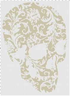 Flower Skull Cross Stitch by CrossStitchGraphghan on Etsy, $2.00