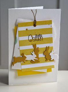 ... das wird wohl die letzte Osterkarte und auch die letzte Karte aus dem März-Kit  werden - obwohl ich noch reichlich Designerpapier übrig...