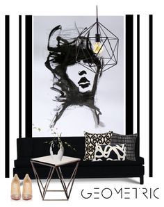 """Black always makes everything look better..."" by gloriettequartet ❤ liked on Polyvore featuring interior, interiors, interior design, home, home decor, interior decorating, Jonathan Adler, CB2, Brentwood Originals and area"